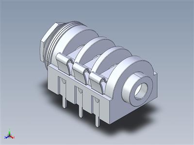 MZT-223 插孔插座 - 立体声机箱插孔,Φ 6.3mm