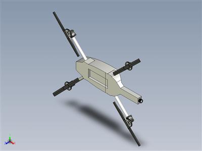带工作螺旋桨齿轮的无人机四轴飞行器。