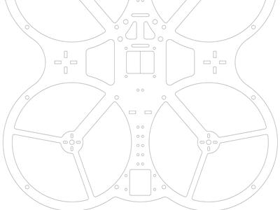 安全清洁实践四轴飞行器