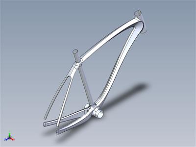 碳路自行车车架概念