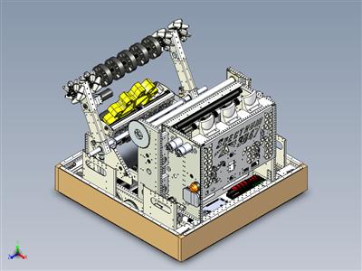 伽玛射线 - 频谱 3847 机器人用于 FRC 2017 STEAMworks
