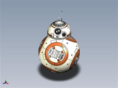BB-8机器人 - 星球大战:原力觉醒(包括所有细节)