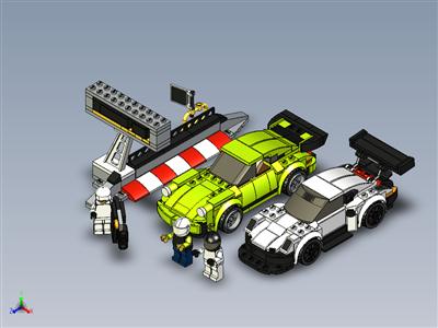 乐高速度冠军 - 保时捷 911 RSR 和 911 Turbo 3.0 (75888)