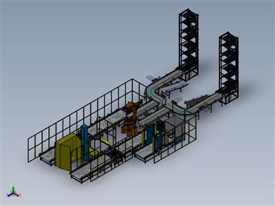 全自动码垛缠绕包装输送一体生产线