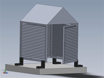 铝制百叶窗箱作为加压泵组的保护罩