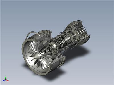 飞机涡轮压缩机,带外壳