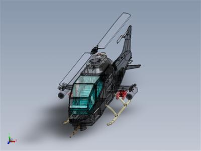 眼镜蛇AH1攻击直升机