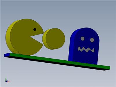 Pacman桌面模型