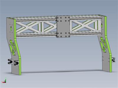 数控机床延长x桥