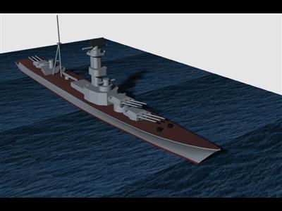二战战舰模型