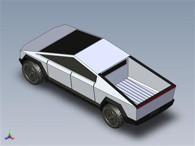 特斯拉赛博卡车(3D打印)