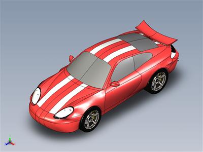 用Solidworks建模和渲染的保时捷911卡雷拉