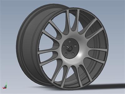 简单的汽车轮胎轮圈...