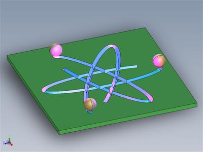 纳米马达的原子符号