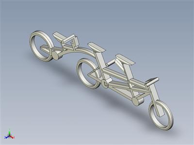 加长双人自行车