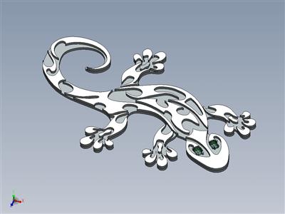 翡翠蜥蜴吊坠