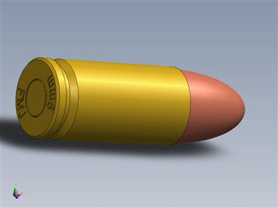 9mm FMJ墨盒