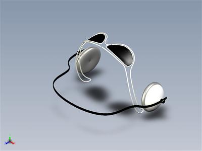 太阳眼镜和耳机