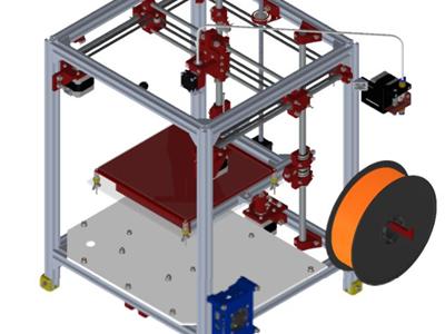 带树莓派Pi模块的3D打印机