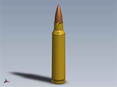 弹壳S.A.5.56X45mm北约,77gr AP射弹