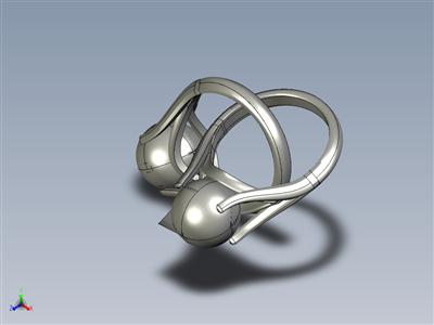 金或瓷和珍珠戒指