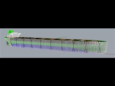 倾覆散货船(船体+结构)