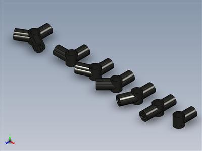 乐高Technic Axel&Pin角形连接器