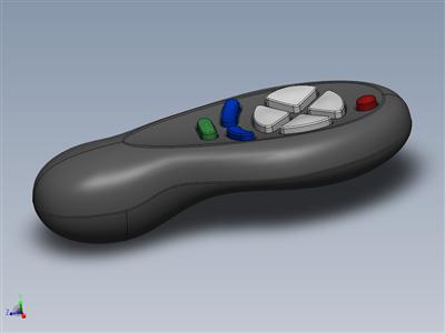 遥控器-Surfaces Solidworks