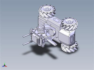 工厂巡逻机器人机构模型