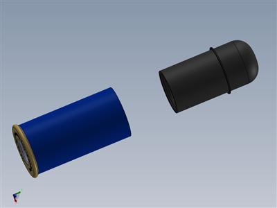 非致命12口径霰弹枪壳,带橡胶子弹和9x19空白推进剂溶液