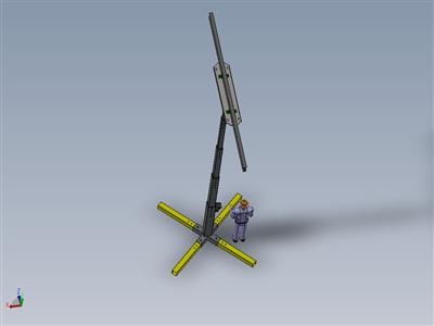 伸缩式桅杆吊梁机