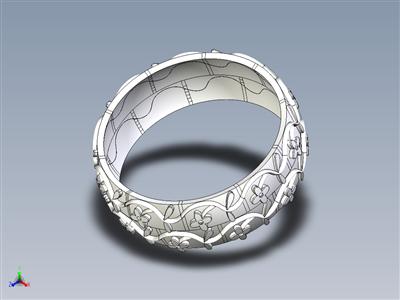 瓷花浮雕环