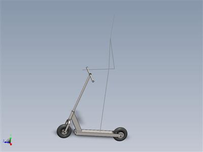 电动滑板车,无电机和电池。