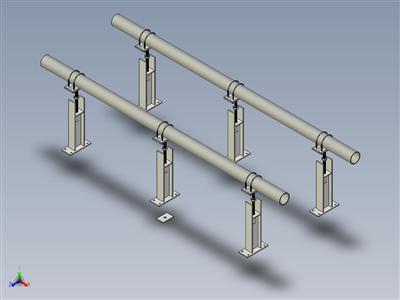 E-Z线6英寸X 36英寸。带聚四氟乙烯工字钢的平顶管支架