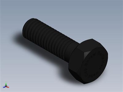 Solidworks中的六角头螺钉螺栓 Solidworks