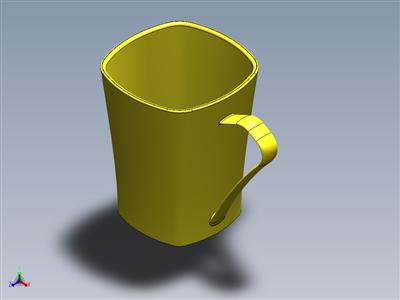 Solidworks中的杯形设计