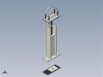 E-Z线8英寸。带工字钢的扁管支架