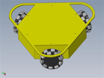 3WD三角形100MM全轮移动机器人车10003