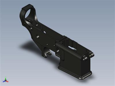 H&K MR223-外壳,下部-公制下部接收器