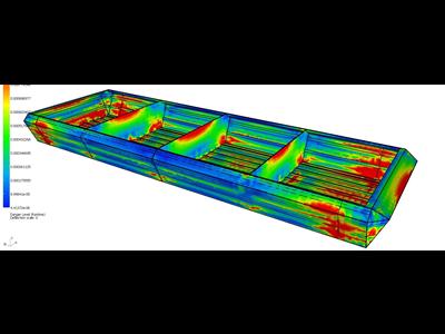 玻璃钢浮式平台结构设计分析